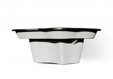 teichbecken gfk 650 liter schwarz teichbau baumaterial f r den teichbau. Black Bedroom Furniture Sets. Home Design Ideas
