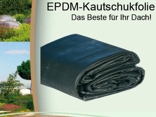 epdm dachfolie 1 5 mm kautschukfolie folie dachbau flachdach dachbahn abdichtung ebay. Black Bedroom Furniture Sets. Home Design Ideas