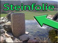 Steinfolie für Rand