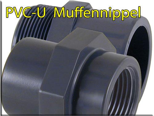 "PVC Übergangs-Muffennippel d =   40//50-1 1//2/"""