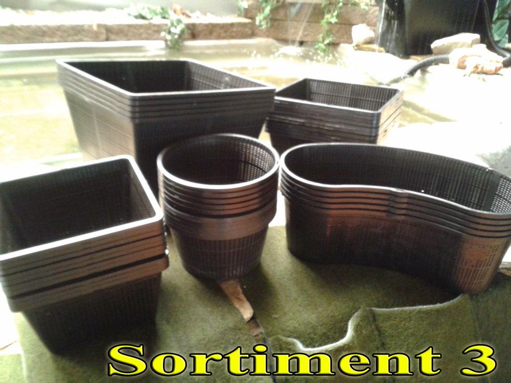 sortiment pflanzk rbe f r teichpflanzen teichbau bachlauf teichrand gartenteich ebay. Black Bedroom Furniture Sets. Home Design Ideas