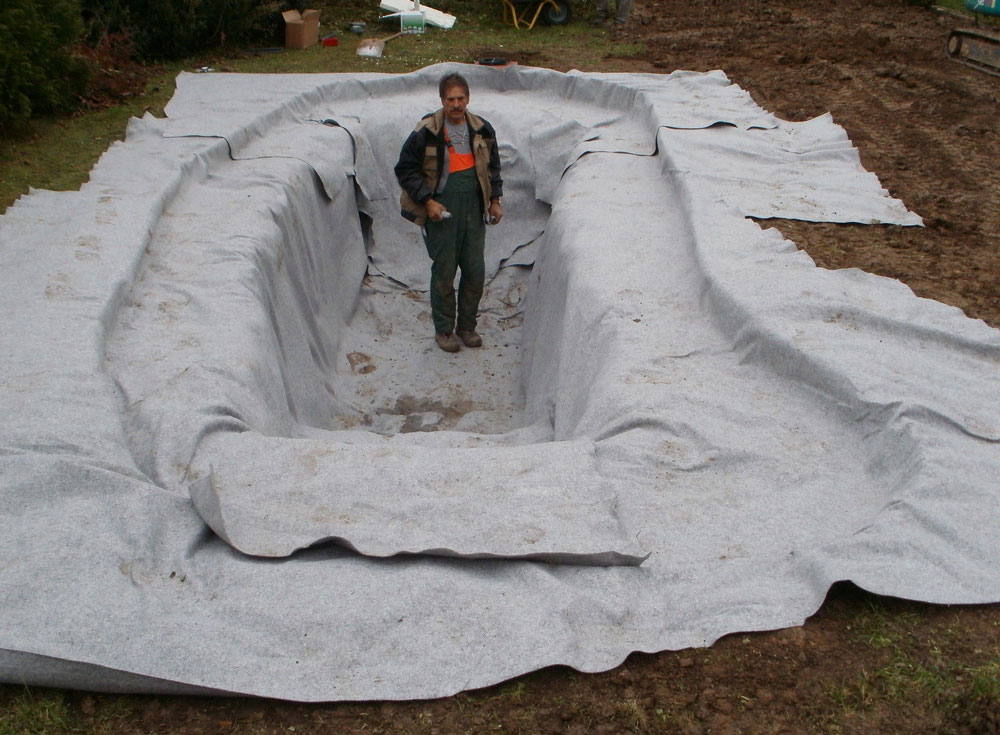 Teichvlies Teichflies Schutzvlies Teich Vlies Teichfolie 300 g// m² 1,39€//m²