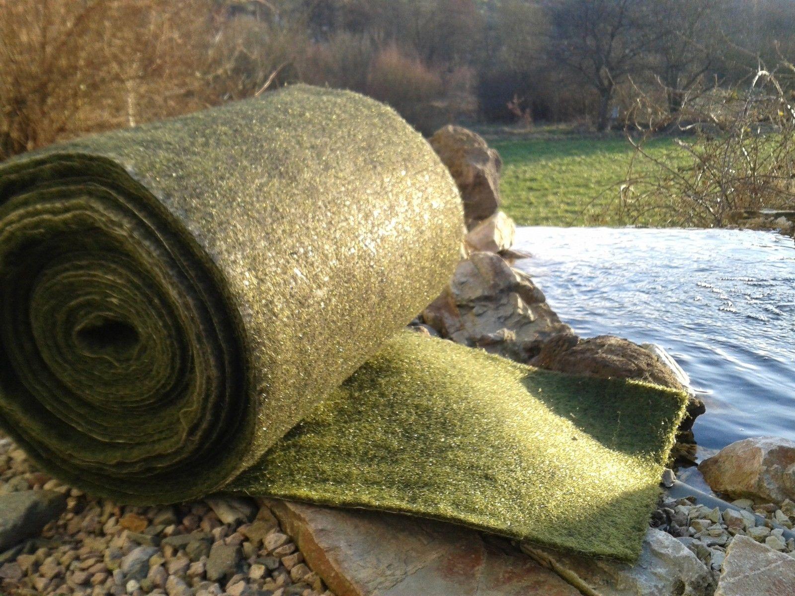 21m x 0,75m Ufermatte grün Böschungsmatte  Teichfolie Teichrand Teichvlies