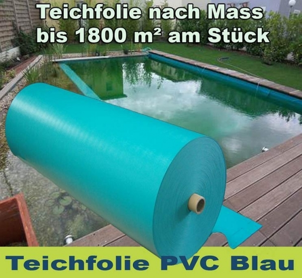 pvc teichfolie 1 5 mm blau gartenteich teichbau baumaterial f r den teichbau. Black Bedroom Furniture Sets. Home Design Ideas