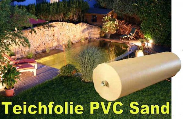 pvc teichfolie 1 0mm sand teichbau baumaterial f r den. Black Bedroom Furniture Sets. Home Design Ideas